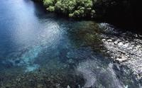 Turquoise river from bridge