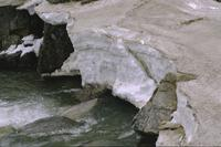 Close-ups of snow and runoff