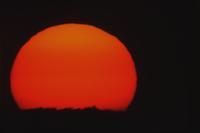 Setting sun with 3000mm lens, near Aberdeen