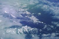 Aerial shots of rockies with polarizer