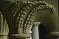 Carvings on pillars in cloister