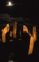 Callanish standing stones with full moon