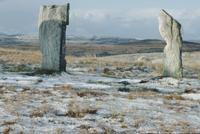 Callanish stones, ice and snow