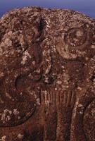 Closeup of carving, Easter Island