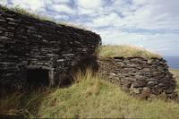 Small stone hut, Easter Island