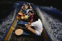Group in boat, Angel Falls