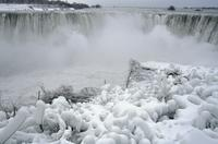 Niagara Falls in the snow