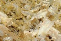 Close-ups of quartz crystals