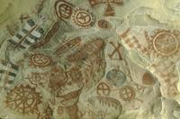 Red ochre pictographs, Painted Cave