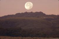 Moon over mount Kenya