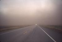 Dust storm and highway to Regina