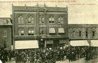 Rush for Free Homesteads, Dominion Land Office, Moose Jaw, Sask.