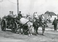 Old Time Horse-Drawn Fire Engine