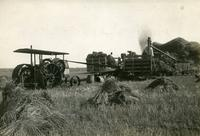 Threshing with Gasoline Engine near Moose Jaw