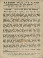 Bible Lesson Card - Jesus the World's Savior