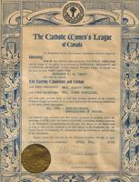 Framed Charter - The Catholic Woman's League of Canada