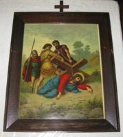 Jesus Stumbles again while Carrying the Cross