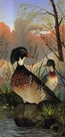 [Painting of two ducks]