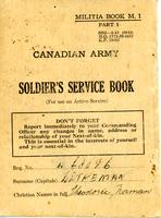 Canadian Army Soldier's Service Book