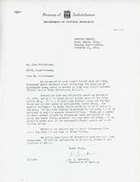 Letter from A.I. Bereskin to John Steinhaurer, November 21, 1962