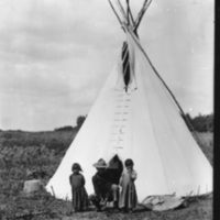 Indian tipi in the Moose Mountain