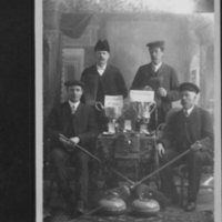 Arcola Curlers: Back, W.T. Hislop, W.A. Hislop. Front: Jack Hooper, James Thompson.
