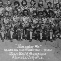 "Remember Me"""" Alameda Girls Softball Team"