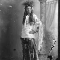 Aboriginal man with long sash