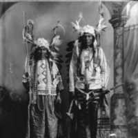 Aboriginal couple with crooks