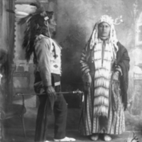 Aboriginal couple in traditional dress