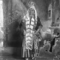Aboriginal woman in traditional dress