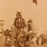 Aboriginal man dancing at a pow wow