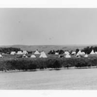 White Bear Indian Reservation camp