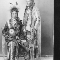 Two Aboriginal men in traditional dress