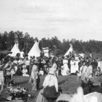 White spectators at a pow wow