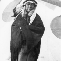 Aboriginal woman with headdress