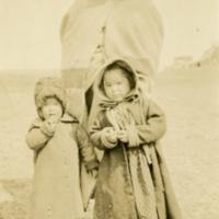 Aboriginal woman and her children