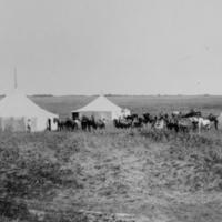 Railroad construction crew camp