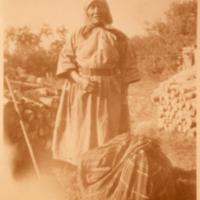 Aboriginal woman and a bundle