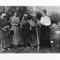 Five women on the LeMesurier farm