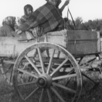 Aboriginal people on a wagon