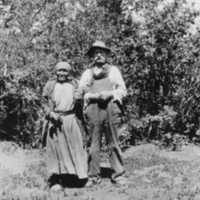 Arthur LeMesurier and an Aboriginal woman