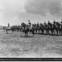 Mounted troops at Fort Qu'Appelle