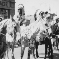 Aboriginal men on horseback