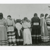 Line of Aboriginal women