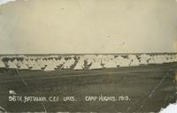 96th Battalion C.E.F. Lines. Camp Hughes, 1916