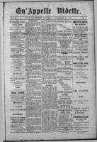 Qu'Appelle Vidette November 20, 1884