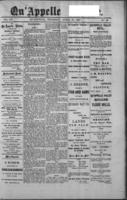 Qu'Appelle Vidette  April 21, 1887
