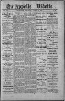 Qu'Appelle Vidette  April 14, 1887