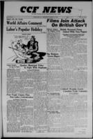 CCF News for British Columbia and the Yukon August 31, 1949